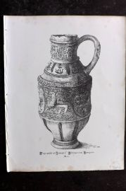 Anastatic Drawing Society 1858 Print. Cup used at James I Coronation Banquet